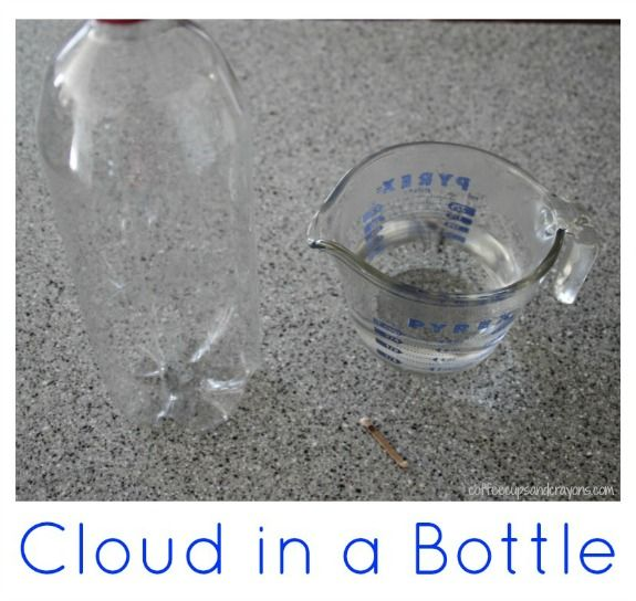 How to Make a Cloud in a Bottle from Coffee Cups and Crayons