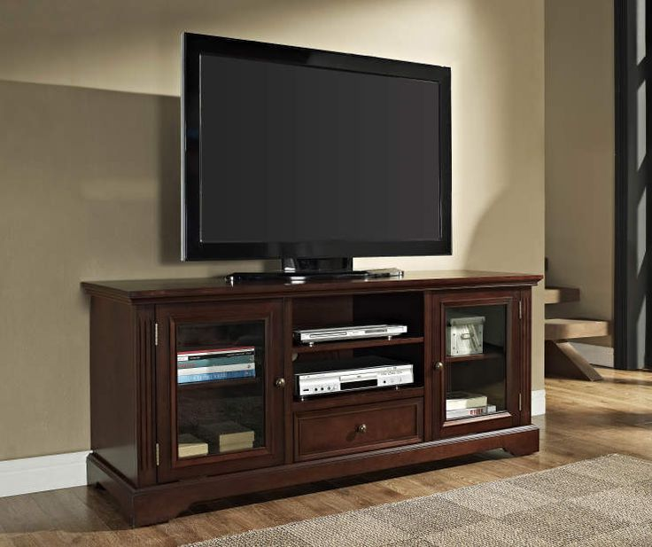 """60"""" Walnut TV Stand at Big Lots.  $230 available at my store.  Remember to go on their 20% Sunday which makes it $184"""