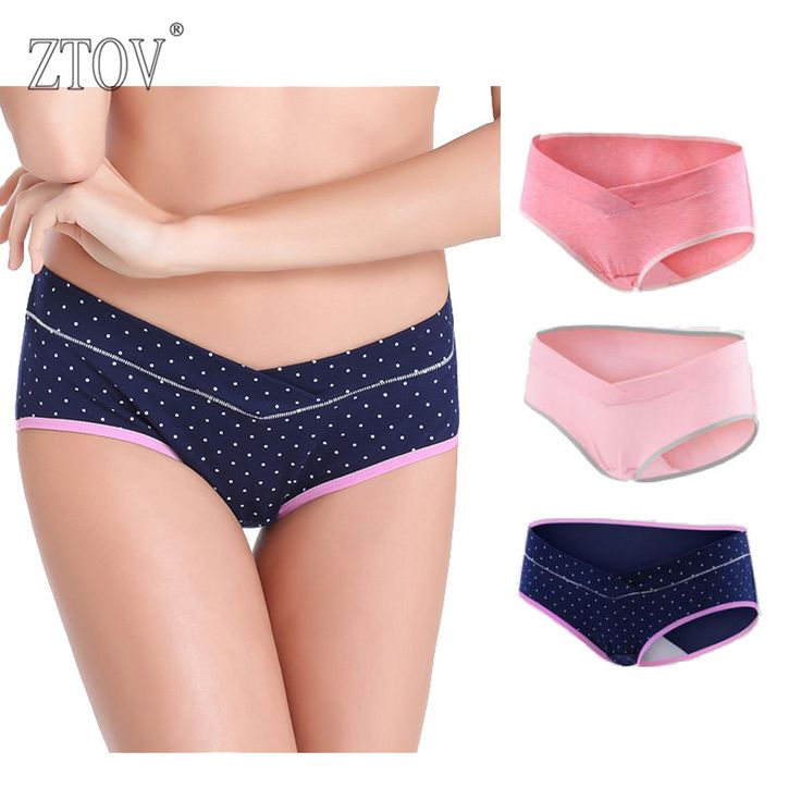 ZTOV 3PCS/Lot cotton Pregnancy Maternity Women Underwear Panties pregnant women clothes U-shaped low-Waist Briefs M L XL XXL K11