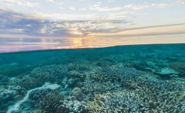Parte do pôr-do-sol australiano foi capturado pelo Google: http://abr.io/5CYC