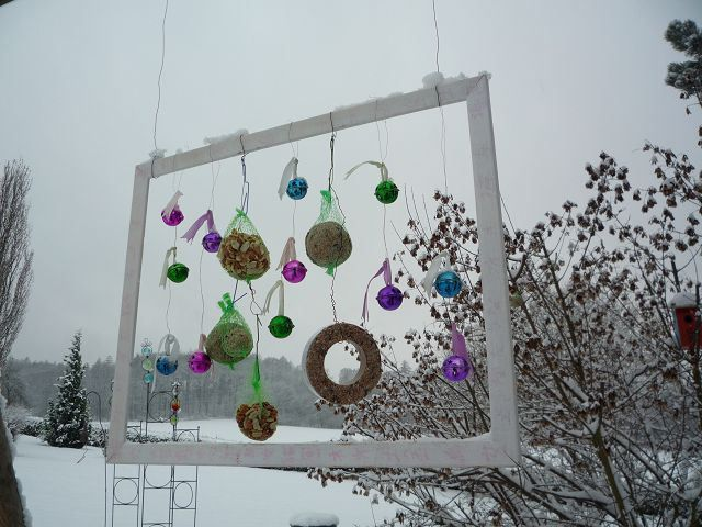 Meisenknödel Weihnachtsdeko für draußen