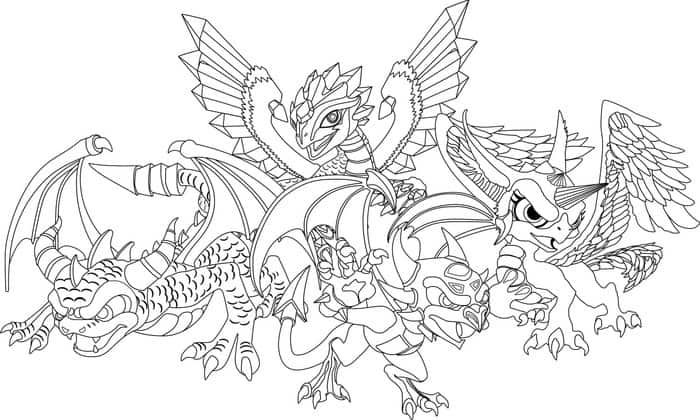Dragon Coloring Pages For Kids Dragon Coloring Page Detailed
