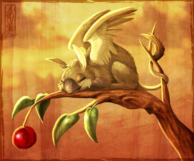 """Baby Griffin """"Cherry Guard"""" by Lizkay cant decide to put it under awwww or fantasy folder..."""