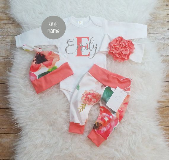 Baby Girl Coming Home Outfit Baby Girl Clothes Monogrammed