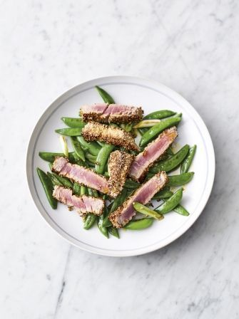 Jamie Oliver's 5 Ingredients | Seared sesame tuna - Sesame seeds HE 2 tbsp, miso 1 syn per person