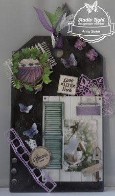 La Provence op een label....gemaakt door Anita Stoker.