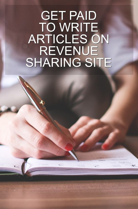 Get paid to write articles on revenue sharing sites is the way which online jobs to be done to earn money by writing some articles on the sites based on revenue sharing from google adsense placed between our articles based on CPM or CPC and also from revenue of sales with amazon. The type of this revenue sharing on different percentage between 100% or on between 50-100%.