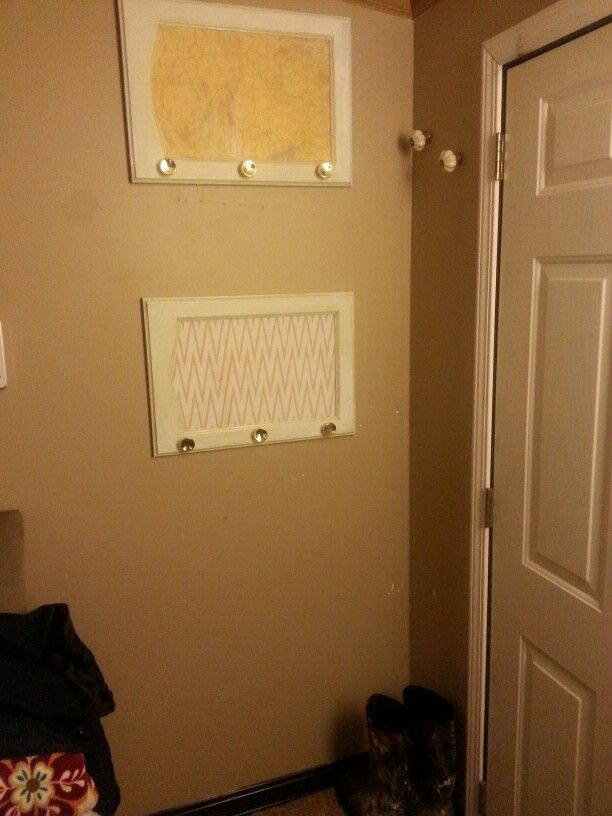 Upcycled Some Cabinet Doors For A Entry Way Coat Hanger Diy Pinterest Coats Doors And