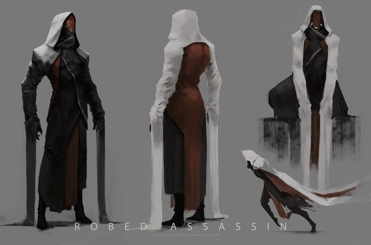 Robed Assassin, Tyler Ryan on ArtStation at https://www.artstation.com/artwork/robed-assassin