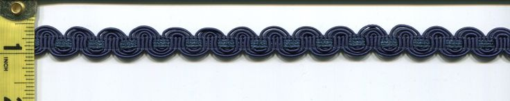 imgt1662 from LotsOFabric.com! A small braided gimp in classic navy blue. Order swatches or shop the Fabric Shack Home Decor collection in Waynesville, Ohio. #drapery #bedding #throw #pillow #upholstery #interior #design #decorating #homes