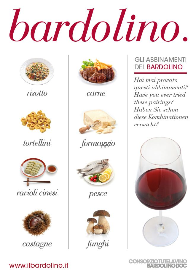 Bardolino & Food Pairings | To learn more about #Verona click here:            	 http://www.greatwinecapitals.com/capitals/verona