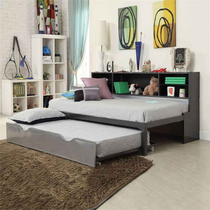 Lowest price online on all ACME Furniture Renell Twin Bookcase Bed with Trundle - 37225T