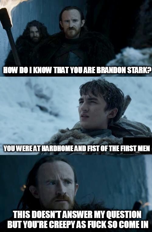 Bran Stark, Dolorous Ed, game of thrones season 7 funny humour meme