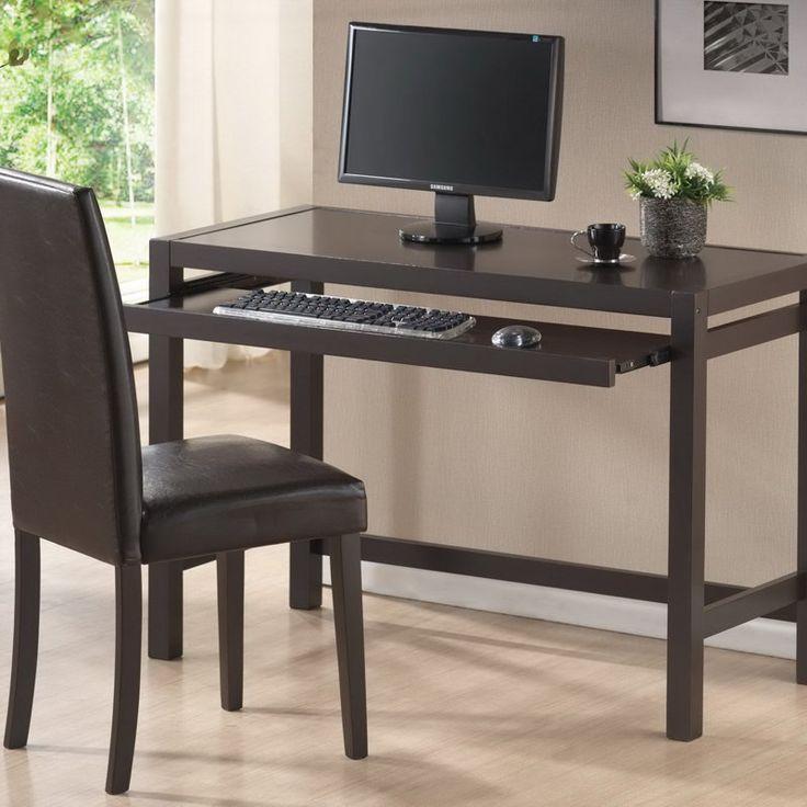 Baxton Studio 43 in. Astoria Brown Desk and Chair Set - RT186-TBL-RT186-CHR