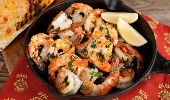 Sizzling Shrimp with Grilled Tomato Toast - In the Kitchen with Stefano Faita
