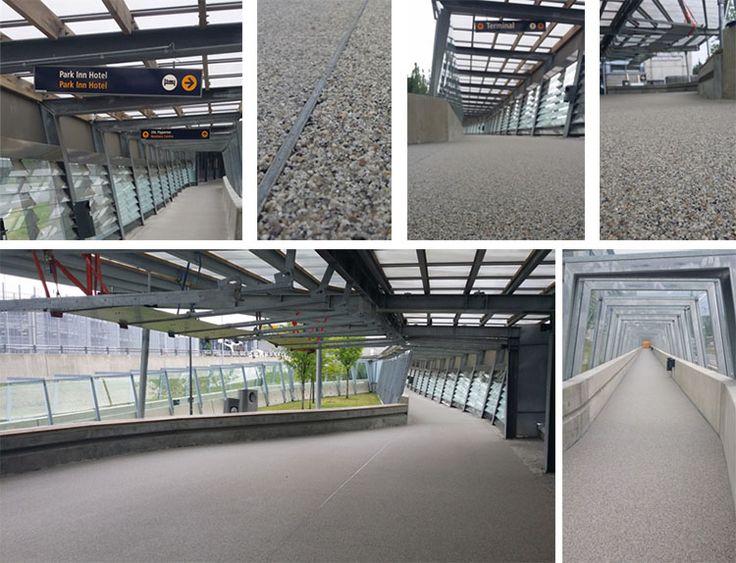 Barrikade Steinbelegg fra Hesselberg Bygg har blitt valgt av Oslo Lufthavn til bruk i gangtunnelen på Gardermoen