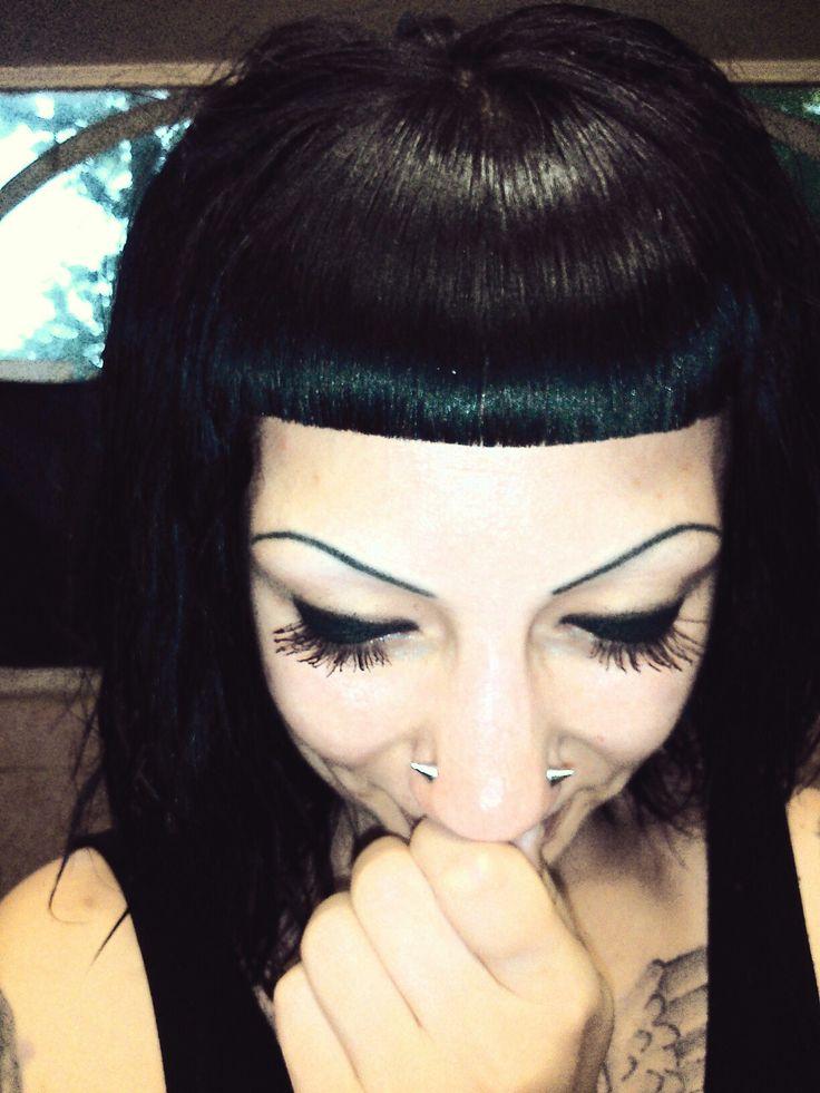 New hair & piercing My style goth/dark/black metal. The world in black beautiful! My color is black!