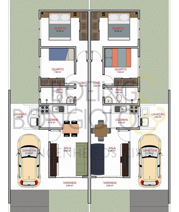 Projeto Realizado Residencias Geminadas Nova Erechim Sc Eduardo Boeing Engenhei Em 2020 Casas Geminadas Projetos De Casas Geminadas Projetos De Casas Simples