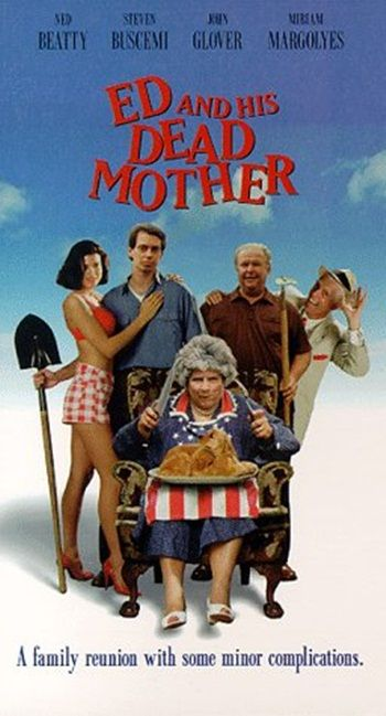'Ed and His Dead Mother' is a black comedy that was directed by Jonathan Wacks and released in 1993.  Ed and His Dead Mother is the sweet story of a young man who just can't bear to say goodbye to his mother and then rather wishes that he had. Find out more: http://thezombiesite.com/ed-and-his-dead-mother-1993/