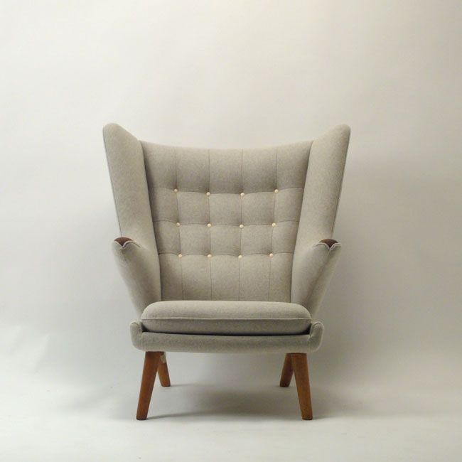 just got this classic Danish chair - the chair I've been dreaming of for ever (Hans J. Wegner AP 19 Teddy bear chair) - in light dusty olive green - love!