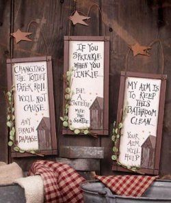 Decorative Bathroom Signs Stunning Best 25 Outhouse Bathroom Decor Ideas On  Pinterest Rustic Design Ideas