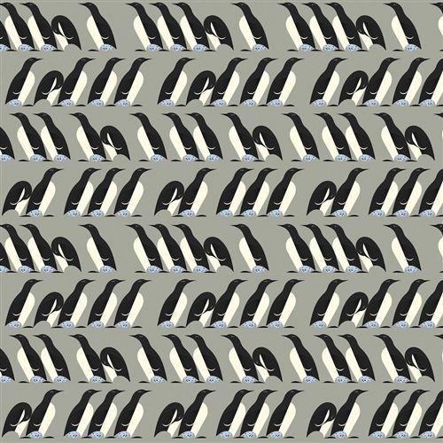 organic cotton fabric charley harper DIY cushion 50s era penguin vtg retro birds