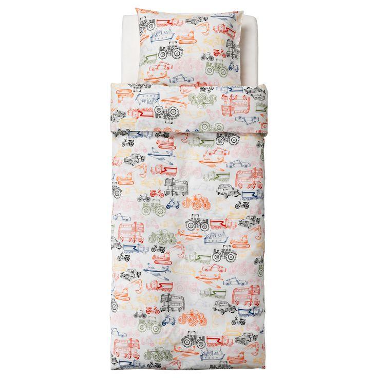 LJUDLIG Quilt cover and pillowcase Multicolour 150x200/50x80 cm - IKEA