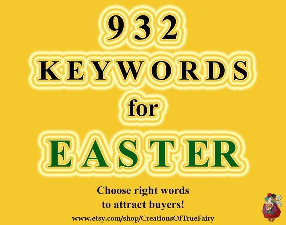 932 Schlüsselwörter für Easter Main und Long Tail Die beliebtesten Schlüsselwörter für …