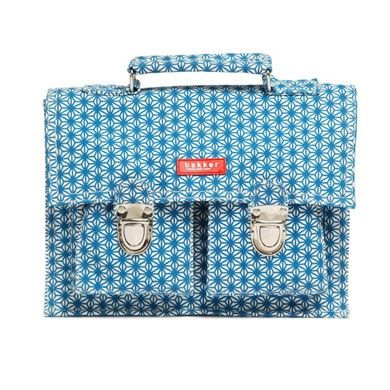 Printed canvas satchel in turquoise X star print by Bakker Made With Love * www.the-pippa-and-ike-show.com