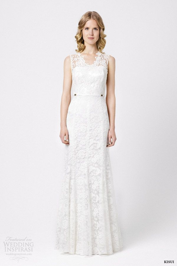 kisui bridal 2015 lilia sleeveless lace wedding dress