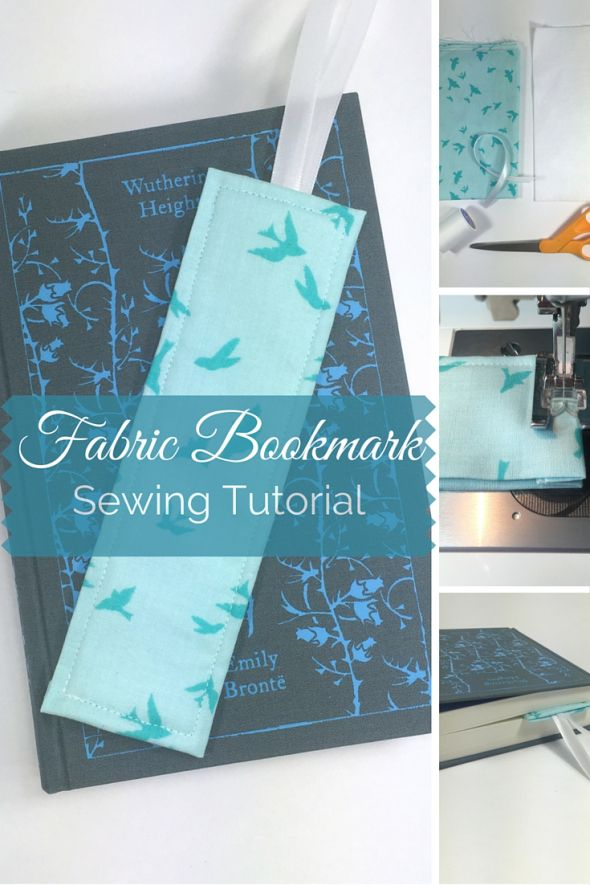 Sewing tutorial fabric bookmark free and