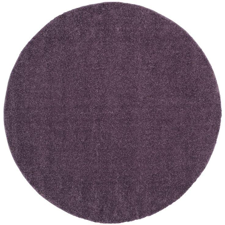 safavieh arizona shag purple shag rug 7u0027 round asg820p7r