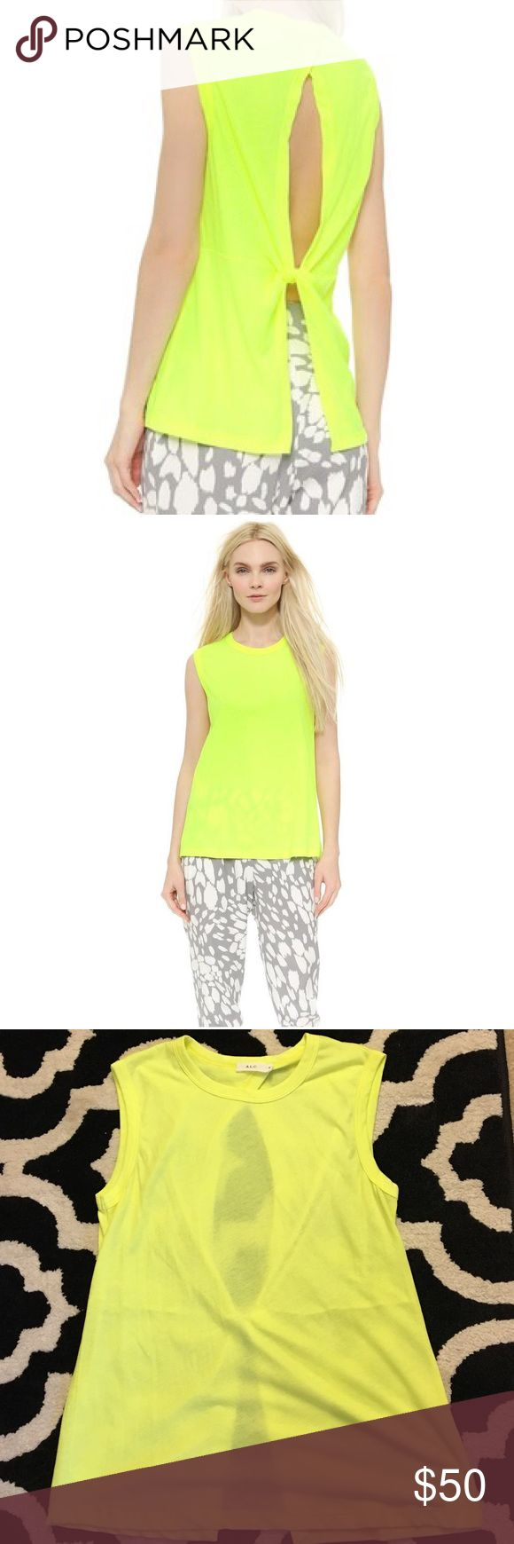 A.L.C Hanover Neon Yellow Top Never been worn, gorgeous bright neon tee! A.L.C. Tops
