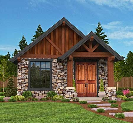 306 best rugged and rustic house plans images on pinterest for Guest cabin plans