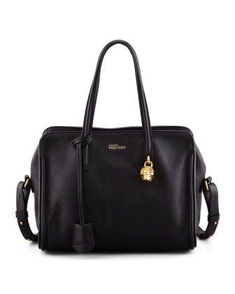 Padlock Zip-Around Tote Bag, Black by Alexander McQueen at Neiman Marcus.