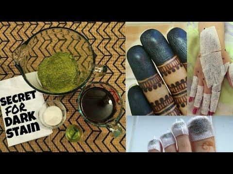 Secret for dark stain(How to make mehndi paste at home for dark stain)|henna paste | Beautiful You - YouTube