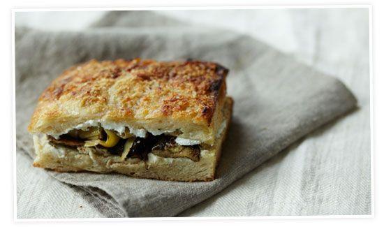 Balsamic Zucchini, Artichoke & Chèvre Focaccia