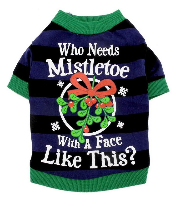 Pet Tee Shirts Mistletoe Print Small Dog Clothes Patterns Striped Grape Cat Puppy Dog Shirt Soft