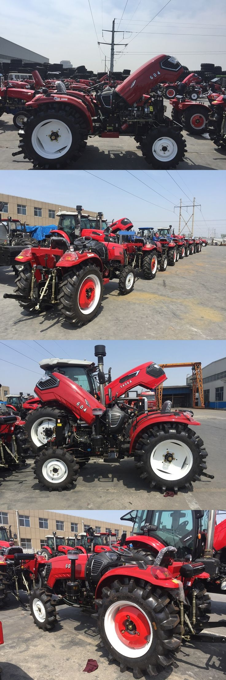 60HP 4WD Agricultural Tractor, Cab Optional