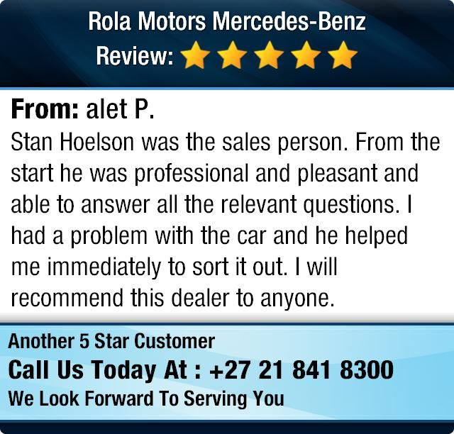 Stan Hoelson was the sales person.  From the start he was professional and pleasant and...