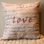 Love Vintage Style Cushion
