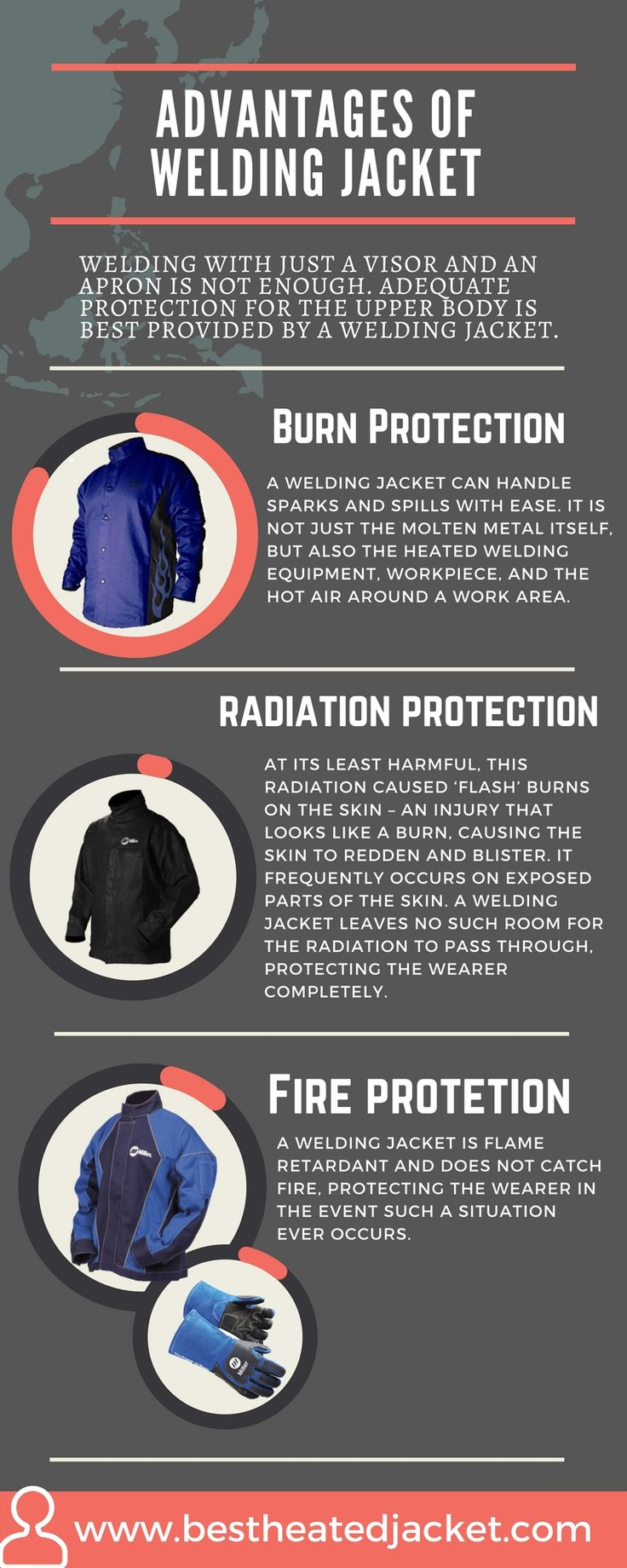 Government stick rules for the safety of welding, which are very much necessary for protection. Welding Jacket protects your upper body part and saves from UV and harmful radiation, damaged skin. Stylish and Colorful welding jackets are now available for man and woman. Here I have described advantages of welding jacket. https://bestheatedjacket.com/best-welding-jacket-reviews/