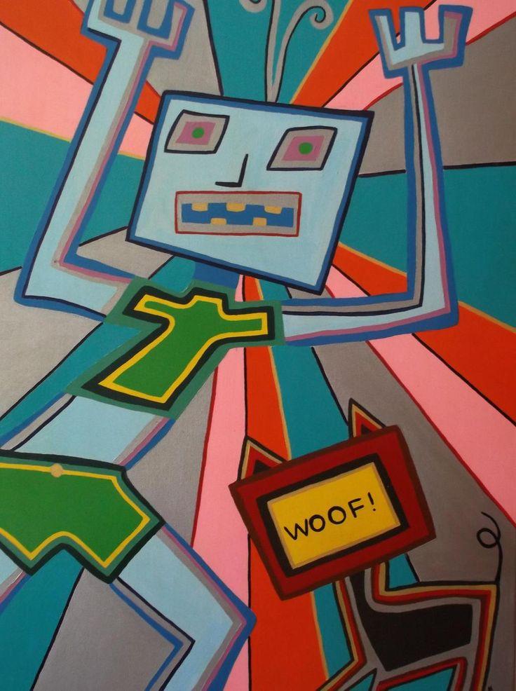 'Woof!', 2004, Acrylic on Canvas
