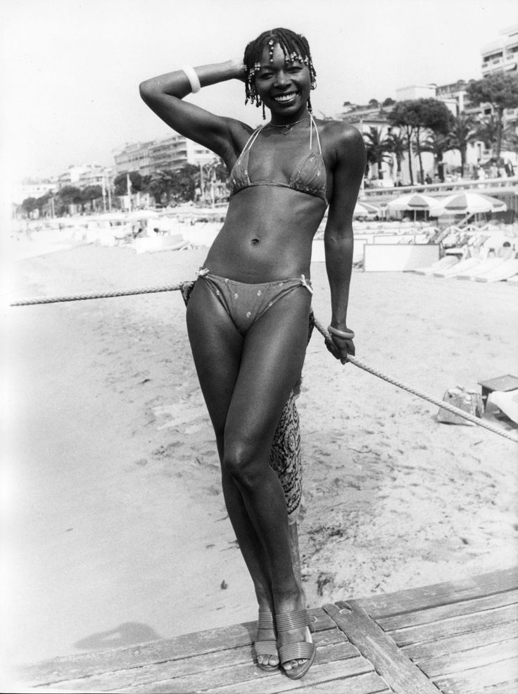 Floella Benjamin, 1977: Barely There Tops, 1970S Bathing, Vintage Black, Lower Bottoms, Thought, Bikinis Brought, Vintage Beach Photos, String Bikinis
