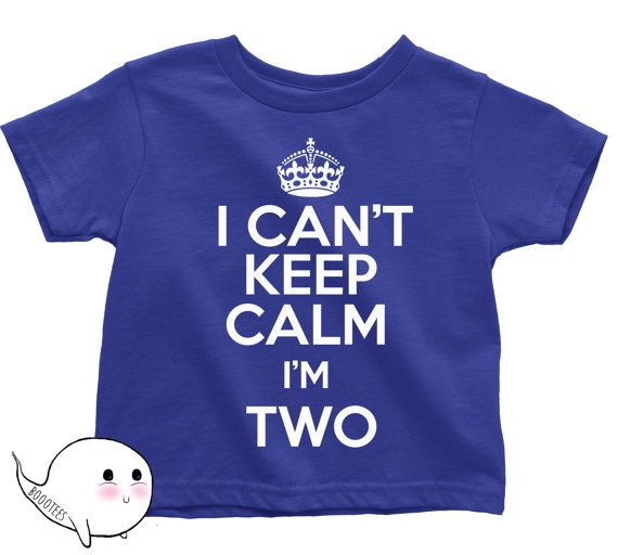 I Can't Keep Calm I'm Two Shirt T Shirt Tee Toddler by BoooTees