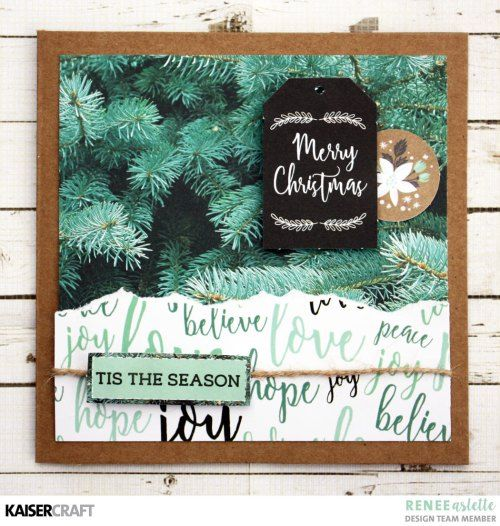 'Tis The Season' Christmas Card Inspiration by Renee Aslette Design Team member for Kaisercraft Official Blog. Featuring their October 2017 'Mint Wishes' collection. Learn more at kaisercraft.com.au - Wendy Schultz - Kaisercraft Projects.