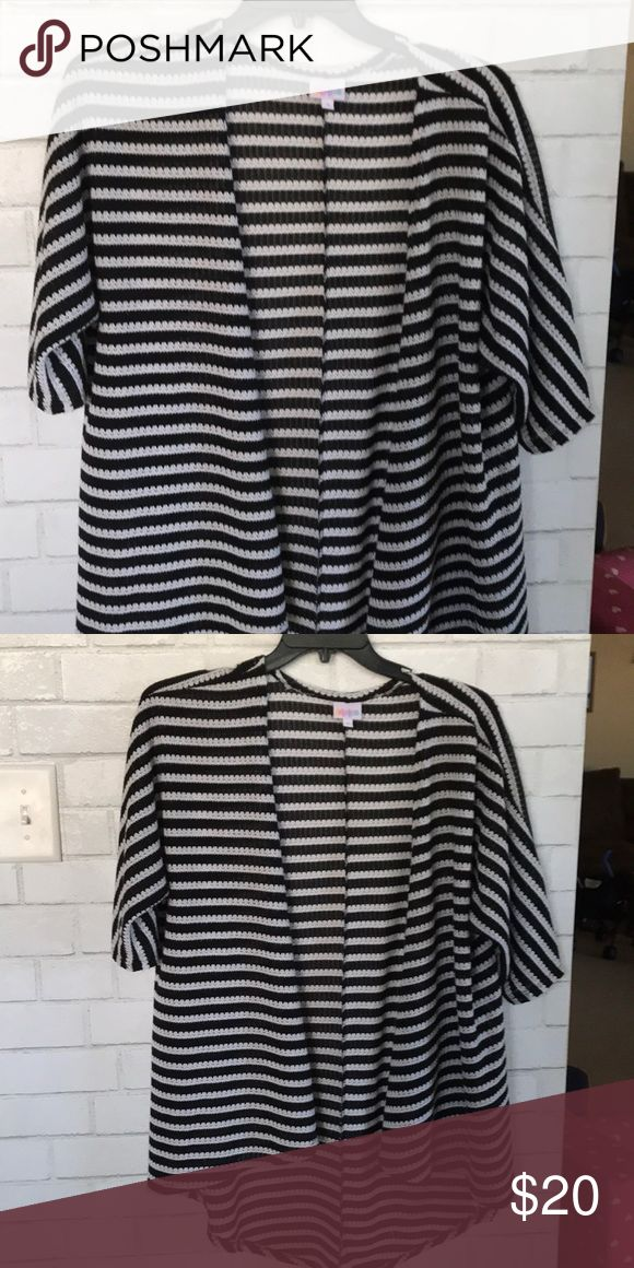 Lindsay Sweater Size small black and white Lindsay sweater LuLaRoe Sweaters  Cardigans