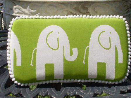 Elephant Diaper Case Green