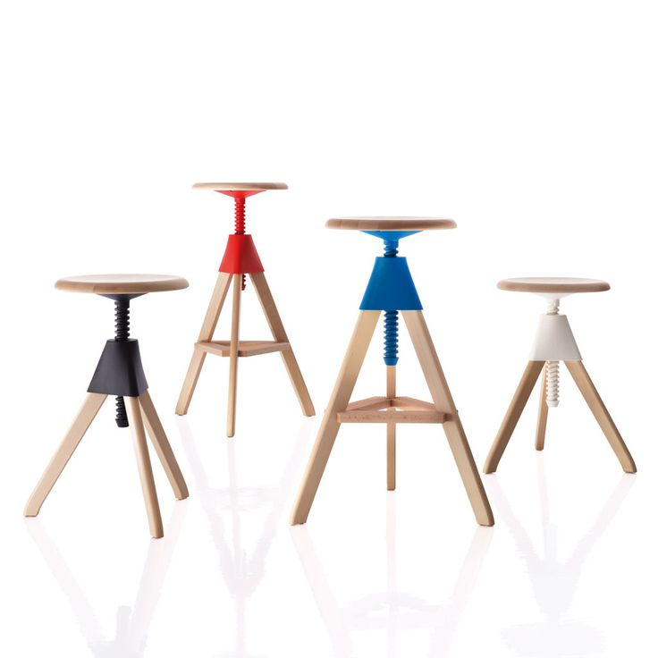 Cool TOM u JERRY STOOL BY KONSTANTIN GRCIC Materials Frame in solid beech Joint and screw