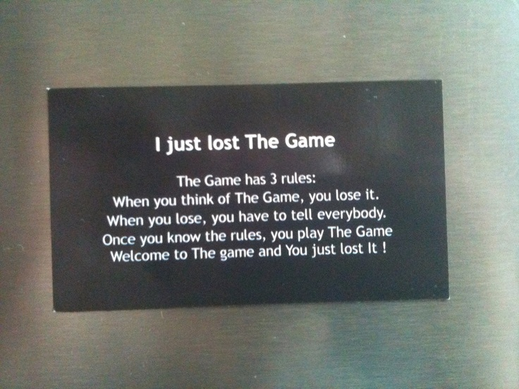 The Game Rules Magnet Geek & Nerd 9gag Reddit 4chan. $2.00, via Etsy.